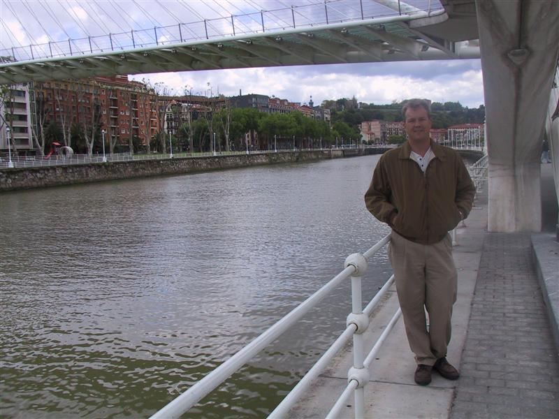 I get in the pictures sometimes...along the Ria de Bilbao.
